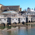 Philadelphia Waterworks And Art Museum Panorama by Bill Cannon