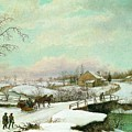 Philadelphia Winter Landscape Ca. 1830 - 1845 By Thomas Birch by Thomas Birch