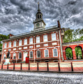 Philadelphia's Independence Hall Under The Clouds by Mark Ayzenberg