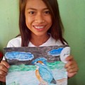 Philippine Kingfisher Painting Contest 7 by Carmela Maglasang