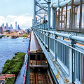 Philly From The Bridge by Carol Ward