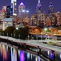 Philly In Panoramic View by Frozen in Time Fine Art Photography