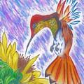 Phoenix Fire Hummingbird by Bryant Lamb