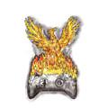 Phoenix Rising Over Burning Game Controller Tattoo by Aloysius Patrimonio