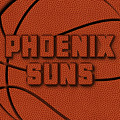 Phoenix Suns Leather Art by Joe Hamilton