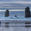 Photographer At Cannon Beach by David Gn