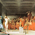 Phryne Before The Areopagus 1861 by Jean Leon Gerome 1824-1904