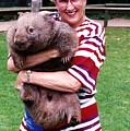 Phyllis Holding Thirty Lb Wombat Australia by Phyllis Kaltenbach