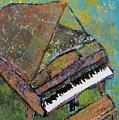Piano Aqua Wall by Anita Burgermeister