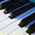 Piano Keys . V2 . Blue by Wingsdomain Art and Photography