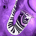 Piano Keys In A Saxophone Purple - Music In Motion by Wayne Cantrell