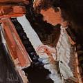 Piano Lesson by Barbara Andolsek