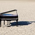 Piano On Beach by Hans Joachim Breuer