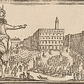 Piazza Della Signoria, Florence by Edouard Eckman After Jacques Callot