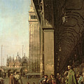 Piazza Di San Marco And The Colonnade Of The Procuratie Nuove by Canaletto