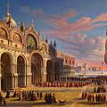 Piazza Di San Marco. Venice by Carl Ludwig Rundt