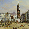 Piazza Mazaniello In Naples by Jean Auguste Bard