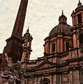 Piazza Navona At Sunset, Rome by Andrea Mazzocchetti