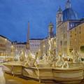 Piazza Navona, Rome by Lucio Campana