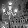 Piazza San Marco Black And White  by John McGraw