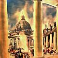 Piazza San Pietro In Roma Italy by Odon Czintos