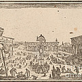 Piazza Ss. Annunziata, Florence by Edouard Eckman After Jacques Callot