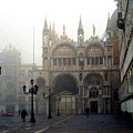 Piazzetta San Marco In Venice In The Morning Fog by Michael Henderson