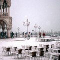 Piazzetta San Marco In Venice In The Snow by Michael Henderson
