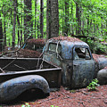 Pick Up Truck In The Woods by Edward Crestoni