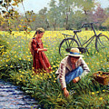 Picking Yellow Flowers by Roelof Rossouw