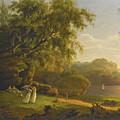 Picnic By The Lake by Thomas Birch