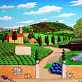 Picnic In Tuscany by Snake Jagger
