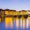 Picturesque Basel At Night by Werner Dieterich