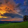 Picturesque Rural Sunset by Der Typ Von Nebenan