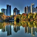 Piedmont Park Atlanta City View by Corky Willis Atlanta Photography