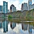 Piedmont Park Atlanta Reflection by Skyline Photos of America