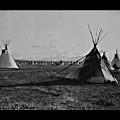 Piegan Encampment by John Feiser