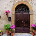 Pienza Doorway by Michael Blanchette