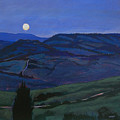Pienza Moon by Robert Bissett