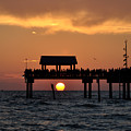 Pier 60 Clearwater Beach - Watching The Sunset by Bill Cannon
