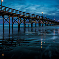 Pier At Dusk by David Smith