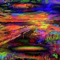Pier At Sunset by Ron Fleishman