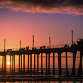 Pier At Sunset by T A Davies