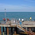 Pier Fishing At Llandudno by Rod Johnson