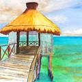Pier Gazebo At Mayan Palace by Carlin Blahnik CarlinArtWatercolor