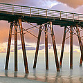Pier On Beach During Sunrise, Playas De by Panoramic Images