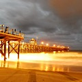 Pier On Fire by Stephanie Haertling