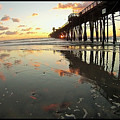 Pier Reflections - Sunset by Jason Minnig