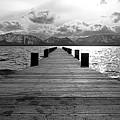 Pier To Mount Tallac Lake Tahoe by Brad Scott