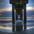 Pier View At Dawn by Myrna Bradshaw